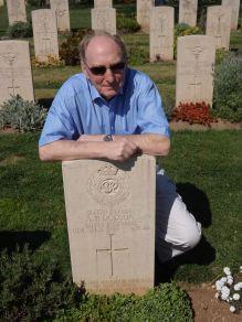 Ian snr at Arthur's grave